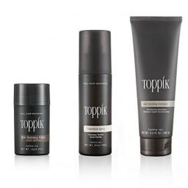 TOPPIK Confort - Fibres capillaires, fixateur, shampooing