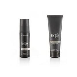 Shampooing + spray fixant: idéal avec les fibres capillaires Toppik