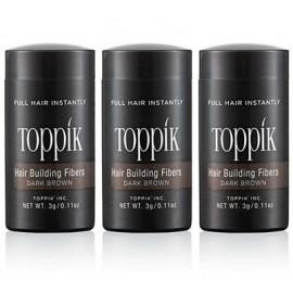 Toppik Travel: 3 flacons de 3 g de poudre à emporter avec soi partour, pour une chevelure impeccable